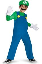 LUIGI DELUXE COSTUME Boys Medium Halloween Super Mario Video Game Child 67822