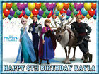 Frozen Edible Icing Image Personalised Birthday Cake Decoration Party Topper