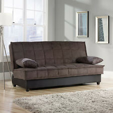 CONVERTIBLE SOFA Sleeper Bed Modern Microfiber Couch Living Room Furniture Dorm