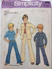 Simplicity Vintage Western Cowboy Shirt Jeans Trousers Pattern Chest 25 Waist 22