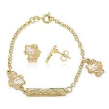 Cadena Pendiente Hello Kitty Oro amarillo GF 18 CT Joyas Bebé Niña AQ 5