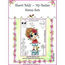 NEW My-Besties Acrylic cling Rubber Stamp TIME FOR FUN SET Free US ship
