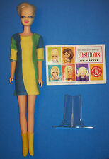 Vintage #1185 TWIGGY Doll BL TNT 1967 Mattel British Fashion Model Original Mini