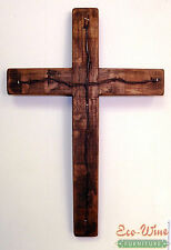 Cross made out of Wine Barrels, Handmade barb wire