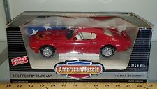 1/18 ERTL AMERICAN MUSCLE 1973 PONTIAC FIREBIRD TRANS AM BUCCANEER RED gd