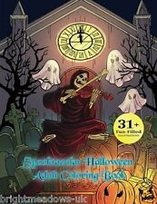 Spooktacular Halloween Adult Colouring Book Autumn Fantasy Witch Vampire Zombie