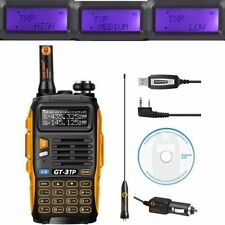 Baofeng GT-3 TP MarkIII Tri-power 1/4/8W UHF/VHF Talkie Walkie+Program USB Câble