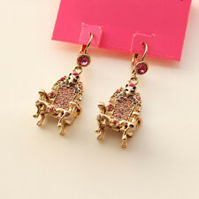 New Betsey Johnson Fox Head Chair Drop Dangle Earrings Cute Girl's Jewelry Gift