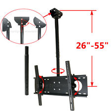 "LED LCD Plasma TV Ceiling Wall Mount 32 40 42 46 47 48 50 55 60"" Tilt Swivel BWD"