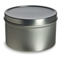 2oz  Round Deep Tin Containers with Lids   12    NEW    Candles, Spices, Beads