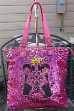 TOKIDOKI SALINAS FUCHSIA SEQUIN LARGE TOTE SHOPPER BAG PURSE T2131108 NWT