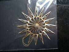 Unikat Handmade Cutout Origami Large Gold Paper Snowflake Ornament, NWT