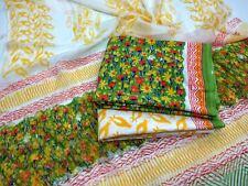 Cotton Bagru dress material for Salwar kameez - Spring Bloom