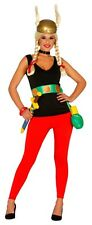 Ladies Sexy Asterix Viking 1960s Cartoon Film Fancy Dress Costume Outfit 14-16