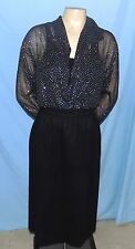 Casual Corner Sheer Blouse & Sewn-In Leotard Size Small Career or Casual