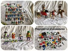 Playmobil Lot Of  Figures, Hair And Accessories 1974 Geobra And More Vintage