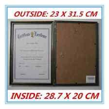 12 x Black with Gold Trim A4 Size Document Certificate Photo Picture Frame AP