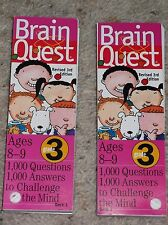 Brain Quest Grade 3rd Ages 8-9 Deck One & Deck Two