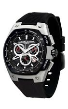 Jorg Gray JG8300-23 Men's Watch Chronograph Black Dial Black Silicone Strap