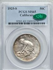 1925-S 50C California MS65 PCGS CAC (1129)