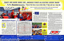 Chicago North Shore R.R Electroliner Schedule & Features 12  x 19  Giclee Print