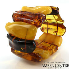 Butterscotch German 100% Natural Baltic Amber Bracelet RRP£1290!!! - W023