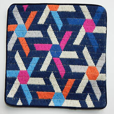 Jonathan Adler BLUE BARGELLO ASTERIX Pillow Case Mod Geometric