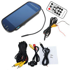 "7"" Bluetooth MP5 Car Rearview Mirror Monitor+ 420TVL CCD Reverse Backup Camera"