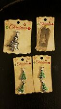 """Lot of 4 packets """"Christmas by Bead Treasures"""" Christmas tree charms, pendants"""