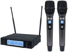 Kam kwm1960 HH V2 TWIN DOPPIO PALMARE RADIO MICROFONO DJ 863-865MHZ CH70 KARAOKE