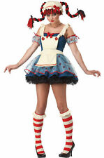 Rag Doll Costume for Teen/Adult size XS (4-6) Raggedy New by Cal. Costumes 01376
