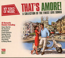 MY KIND OF MUSIC THAT'S AMORE! - 2 CD BOX SET - LOVE SONGS, PERRY COMO & MORE