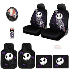 10PC JACK SKELLINGTON NIGHTMARE BEFORE CHRISTMAS CAR SEAT COVER SET FOR HONDA