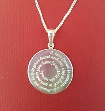 A True Friend Necklace Sterling silver Solid 925 Charm Pendant and Chain best