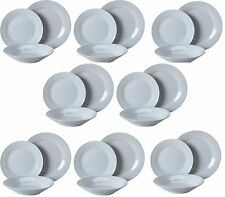 24PC Porcelain Dinner Set Plates Bowls Dinnerware Service for 8 Place Setting
