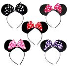 Kids Girls Children Minnie Mouse Ears Silk Bow Head Alice Band Dress Up Party
