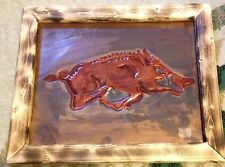 ARKANSAS RAZORBACK COPPER RELIEF - Lg Red Razorback