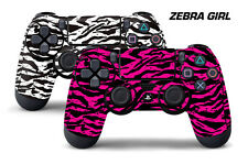 Dual Skin Sticker Wraps 2 Pack PS4 Playstation 4 Remote Controller Decals ZEBRA