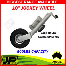 "10"" JOCKEY WHEEL. SWING UP. PUMP UP WHEEL. CARAVAN, BOAT TRAILER. 10 INCH"