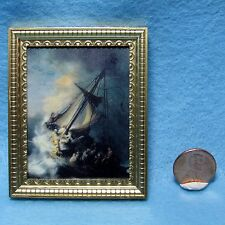 Dollhouse Miniature Stolen Rembrandt Picture in Frame ~ 9342FW