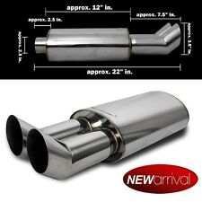 For: Lucerne DTM Dual Angle Tip Axle Back Weld On Muffler Exhaust
