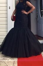Sherri Hill Black Beaded Prom Gown Size 10