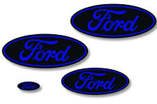 Front,Rear,Steering Wheel Decals Sticker Oval Overlay For Ford F150 09-14 BLK BU