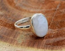 RAINBOW MOONSTONE 925 STERLING SILVER RAINBOW MOONSTONE RING SIZE 5 6 7 8 9  10