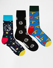 HAPPY SOCKS Geschenkbox, 3er-Set - 36-40 - Billionaire / Astronauten - NEU & OVP