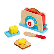 MELISSA AND DOUG BREAD AND BUTTER TOASTER WOODEN PLAY SET BRAND NEW & SEALED