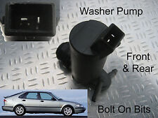 Front & Rear Windscreen Washer Pump SAAB 9-3/9.3 Hatchback 1998 through to 2003