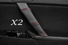 RED STITCH FITS MAZDA 3 09-13 2X REAR DOOR HANDLE LEATHER COVERS ONLY