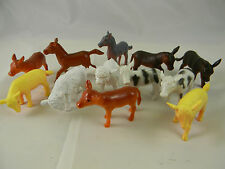 Baby Toy Farm Animals 12 Plastic Figures 2 to 2.5 inches Long Horse Cow Sheep