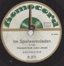 Orchester 1928 spielt Leon Jessel : Im Spielwarenladen